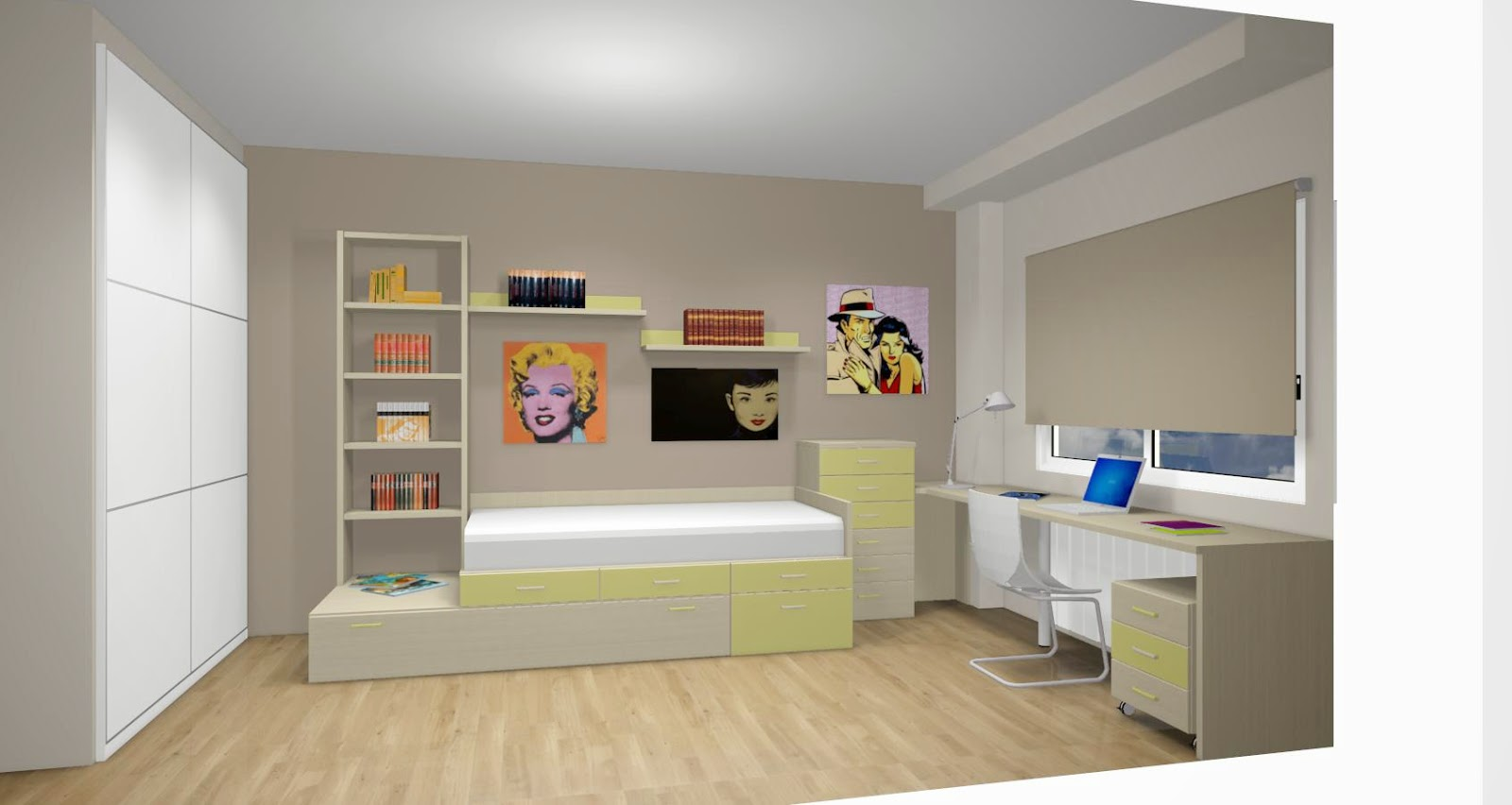 Dise o de cuartos o dormitorios juveniles for Programa decoracion habitaciones