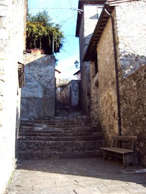 Il piccolo borgo di Celle Puccini, paese natale della famiglia Puccini