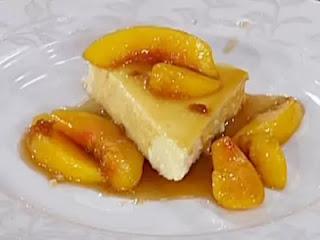 Guerison service dish - Peach Flambe