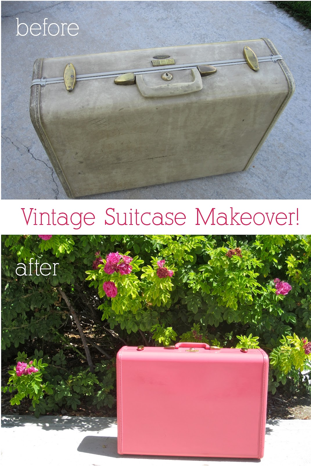 Vintage Suitcase Painted