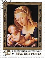 Selo Madona e a Criança com Pera