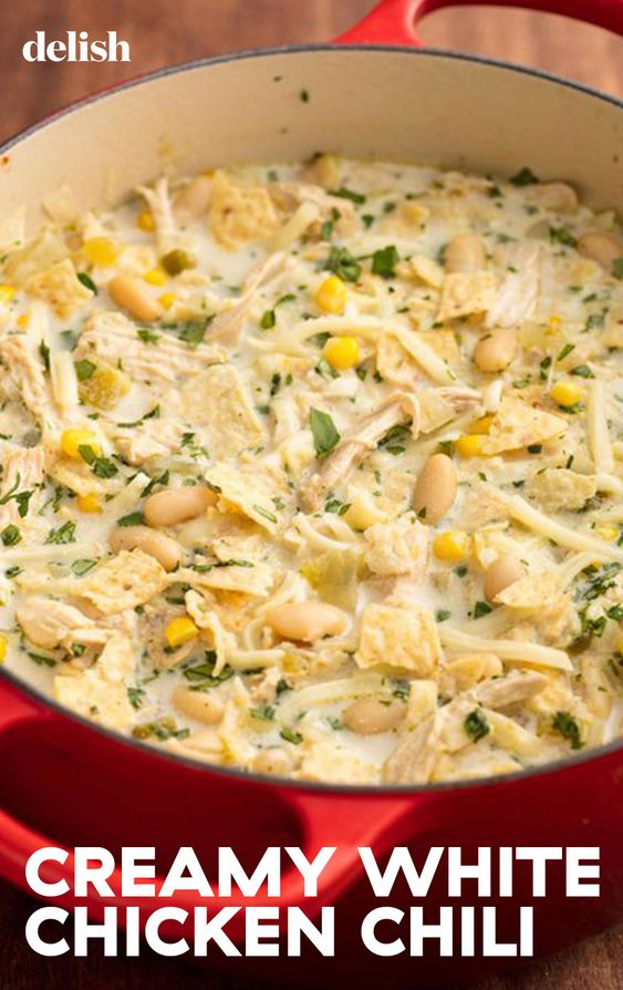 White Chicken Chili #recipes #foodandrecipes #food #foodporn #healthy #yummy #instafood #foodie #delicious #dinner #breakfast #dessert #yum #lunch #vegan #cake #eatclean #homemade #diet #healthyfood #cleaneating #foodstagram