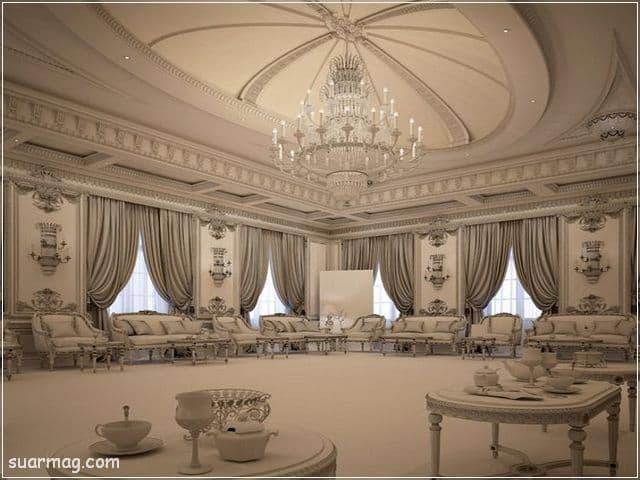 ديكورات جبس اسقف راقيه كلاسيك 6   Classic Gypsum Ceiling 6