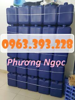Can nhựa vuông đựng hóa chất, can nhựa 20 Lít, can nhựa loại dày 288161baf58313dd4a92