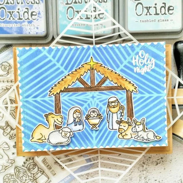 Sunny Studio Stamps: Holy Night Customer Card by Sheila