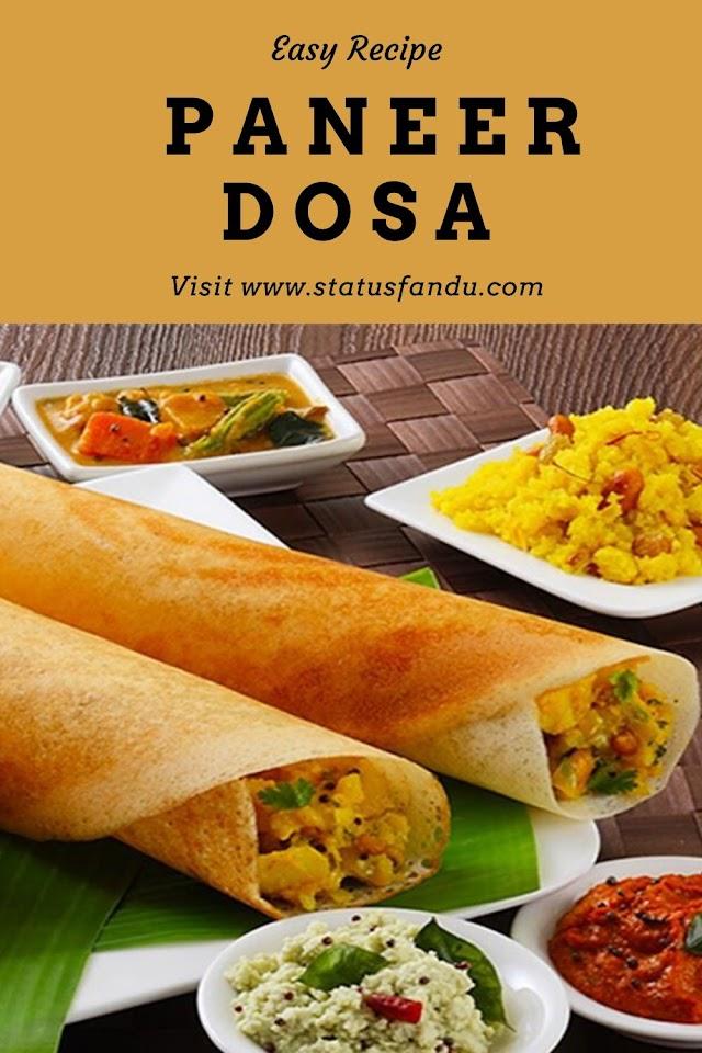 How To Make Paneer Dosa