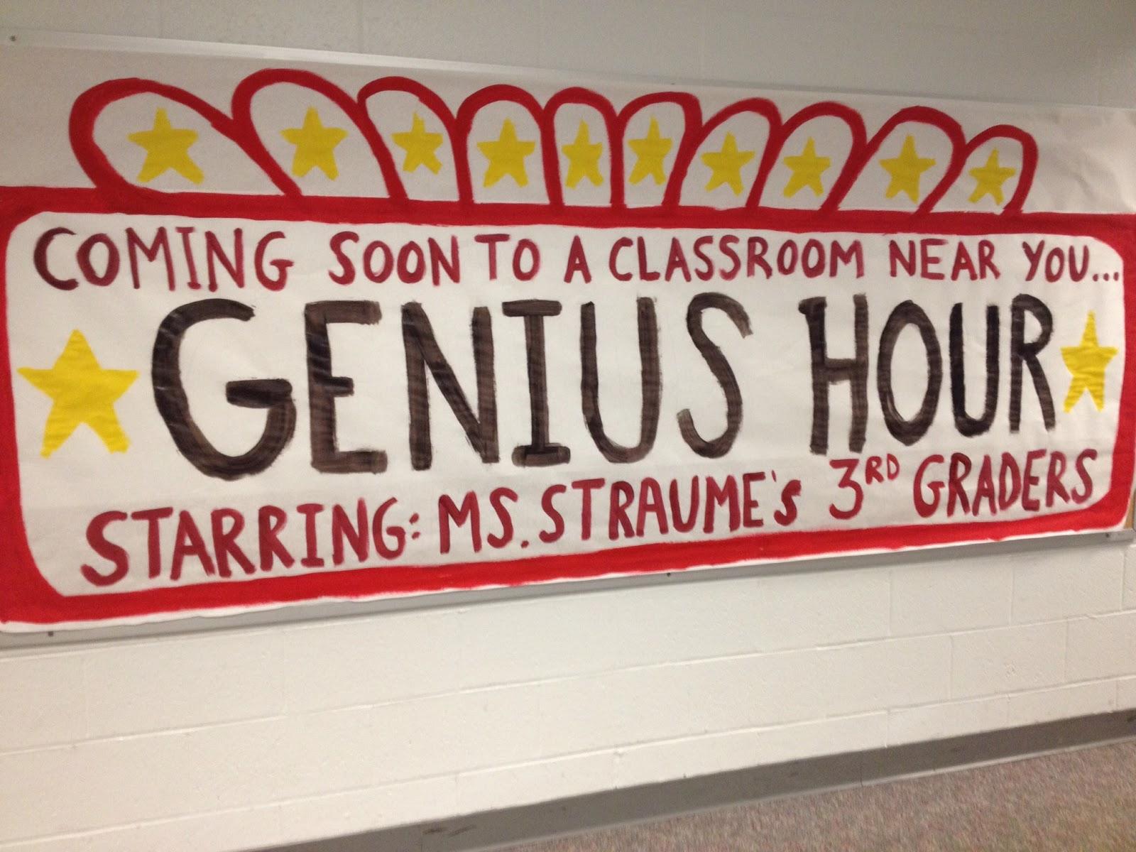 Claire S Classroom Experience Genius Hour
