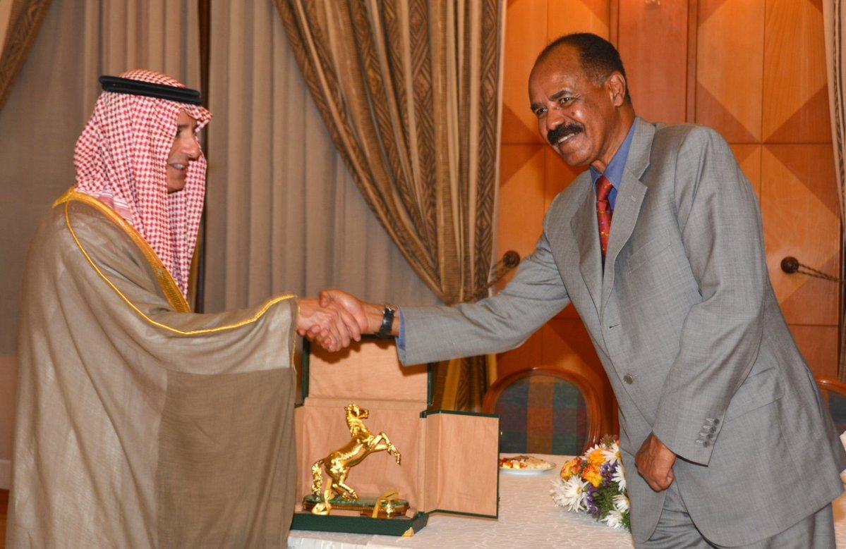 <Saudi Foreign Minister meets Eritrean president in Asmara