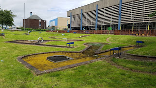 The Crazy Golf course at Fenton Manor Sports Complex in Stoke