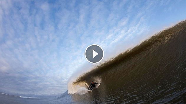 Scoring Perfect East Coast Barrels from Winter Storm Stella Sessions