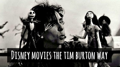 How Disney movies would look like if the great Tim Burton Directed them via geniushowto.blogspot.com illustrations and gothic videos