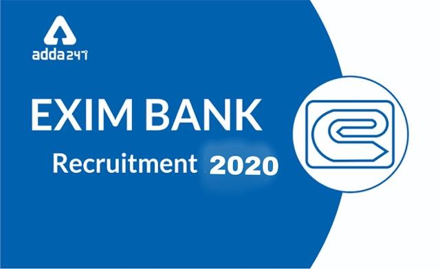 EXIM एक्सिम बँकेत 22 पदांची भरती . 22/02/2020