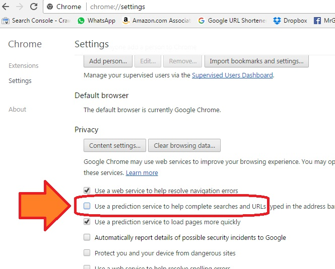 How To Delete Specific Or Completely Chrome Auto Suggested