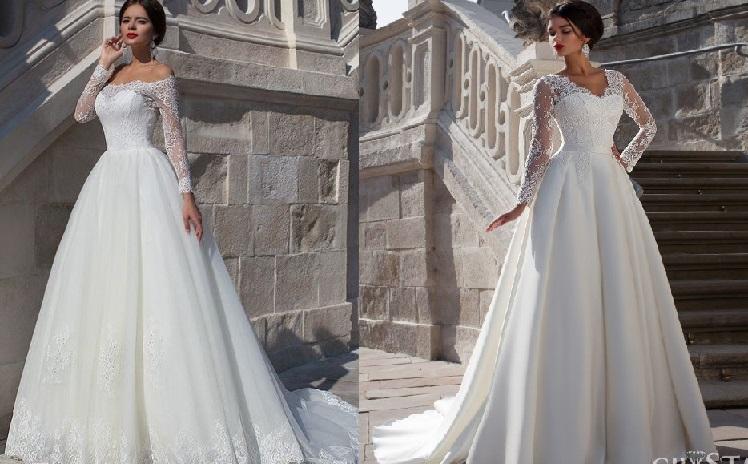 95915970a7b8e Uzun kollu gelinlikler, kış düğünlerinde tercih edilen modeller olarak  düşünülse de her ne kadar.