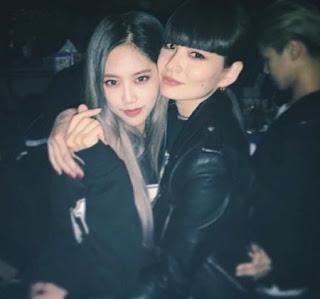Rapper Yuk Jidam with her friend