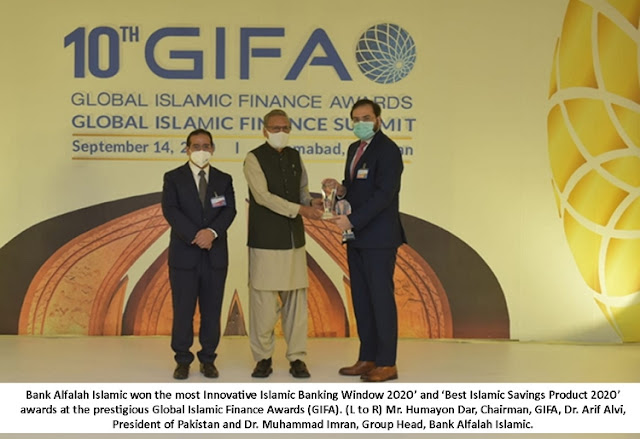 Bank Alfalah Islamic wins two prestigious awards at the 10th Annual Global Islamic Finance Awards (GIFA)