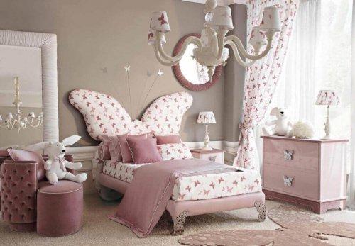 افكار تصاميم غرف نوم بنات باربي بسيطة ومريحه