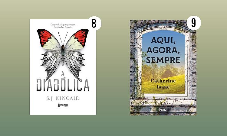 Editora Rocco; A Diabólica - S. J. Kincaid; Aqui, agora, sempre - Catherine Isaac