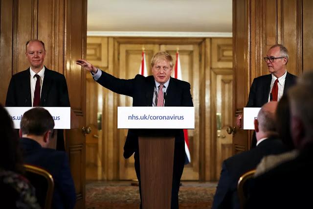 Boris Johnson al tempo della crisi del coronavirus
