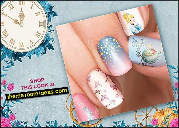 Cinderella Disney nail sticker - illustrated nail art - Cinderella, Princess - Disney nail sticker
