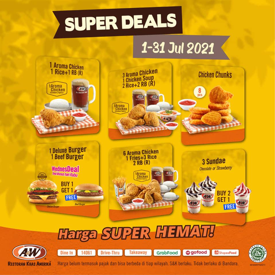 Promo AW Restoran Super Deal 1 - 31 JULI 2021