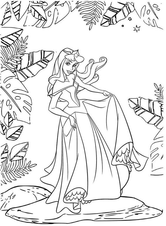 Tranh tô màu nàng công chúa ngủ trong rừng 11