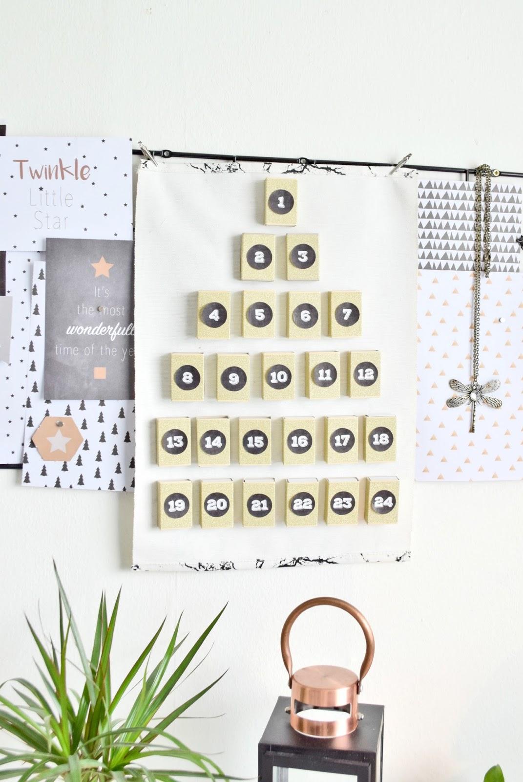 DIY - Kalendarz Adwentowy z Pudełek od Zapałek