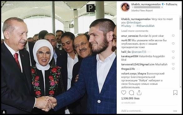 Erdogan Bertemu Juara UFC Khabib Nurmagomedov