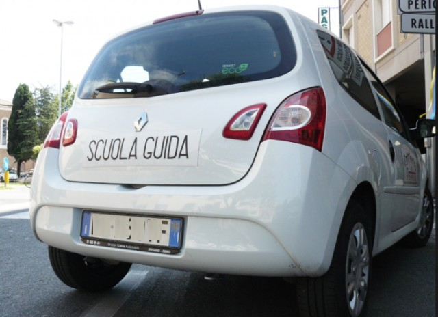 Autoscuola Instructor car for learning drivers