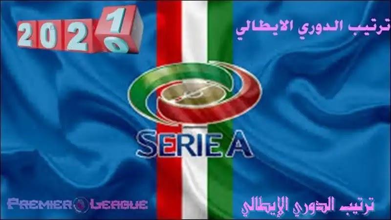ترتيب الدوري الإيطالي - الجولة الخامسة والعشرين