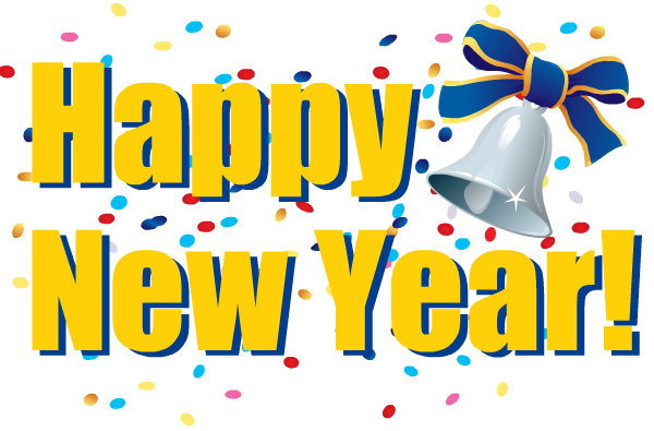 Beautiful Happy New Year Birthday Clip Art