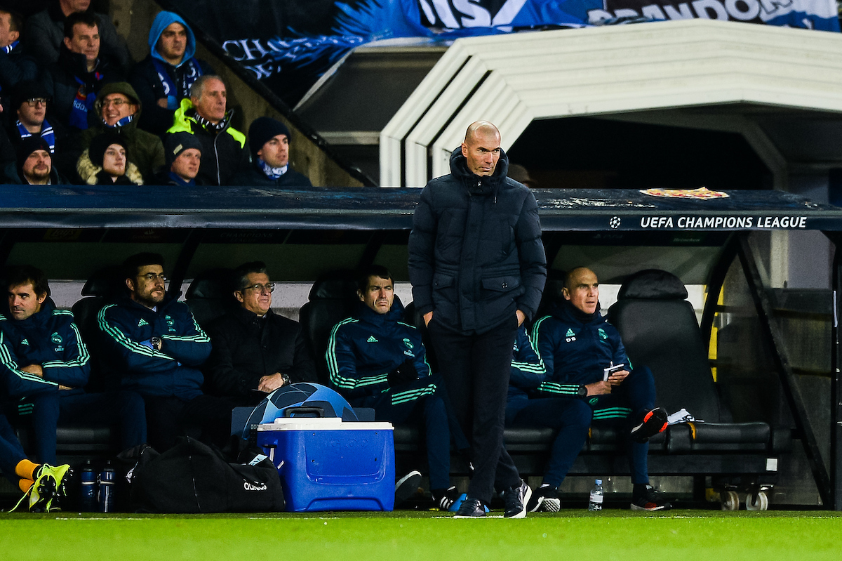 Zinedine Zidane, head coach of Real Madrid