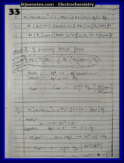 Electrochemistry Notes IITJEE3