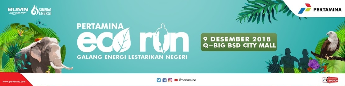 Pertamina Eco Run Route 2018