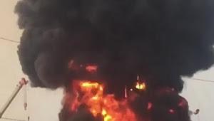 BREAKING NEWS | Sumur Milik Pertamina di Desa Lopak Alai Muarojambi Terbakar dan Meledak