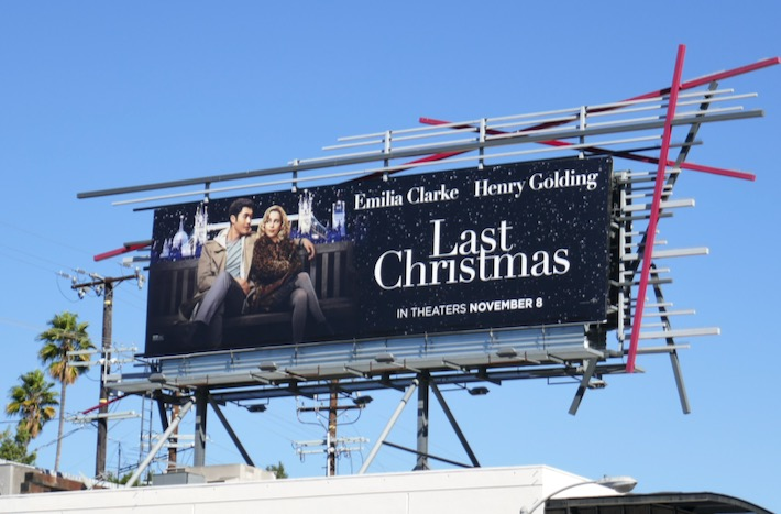 Last Christmas film billboard