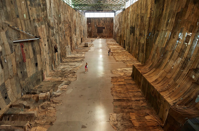 Image of large sculptural work in the 22nd Biennale of Sydney