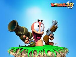 تنزيل لعبه حرب الديدان Worms 3D برابط واحد على ميديا فاير اللعبه للحواسيب واللاب توب والكمبيوتر