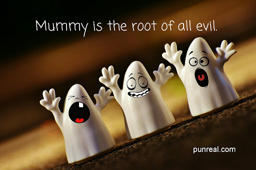 This is a good biblical lesson about mummies. Halloween Puns are great.