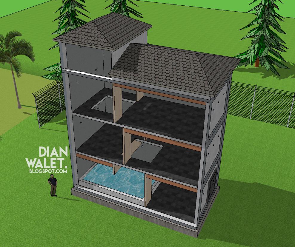Desain Gedung Walet RBW 4X8 Simpel Dan Sesuai Standar Full