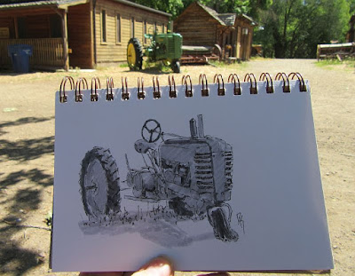 sketch pen tractor john deere wheeler farm