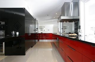 Cocina moderna decorada