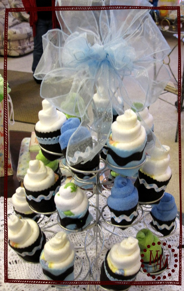 Free Baby Projects: Diaper & Washcloth Cupcakes