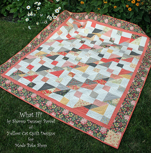 What If? Quilt Free Tutorial designed by Sharon Denney Parcel for Moda bake shop