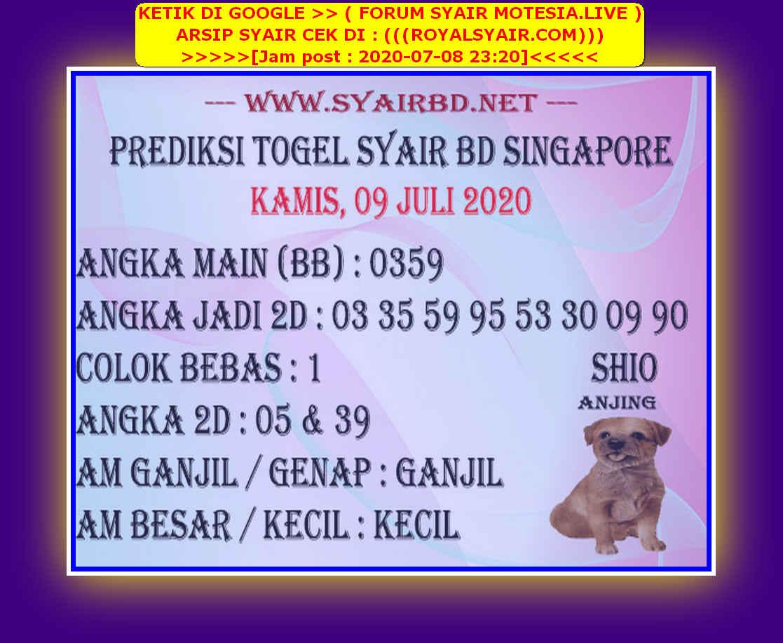 Kode syair Singapore Kamis 9 Juli 2020 225