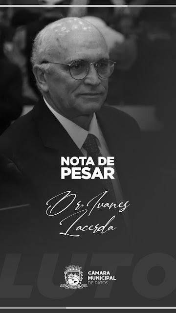 Câmara Municipal de Patos-PB, emite  Nota de Pesar