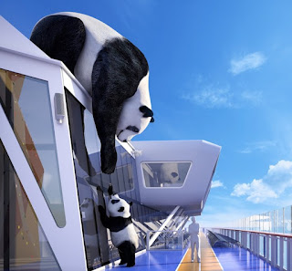 Royal Caribbean's Ovation of the Seas - Panda Figures