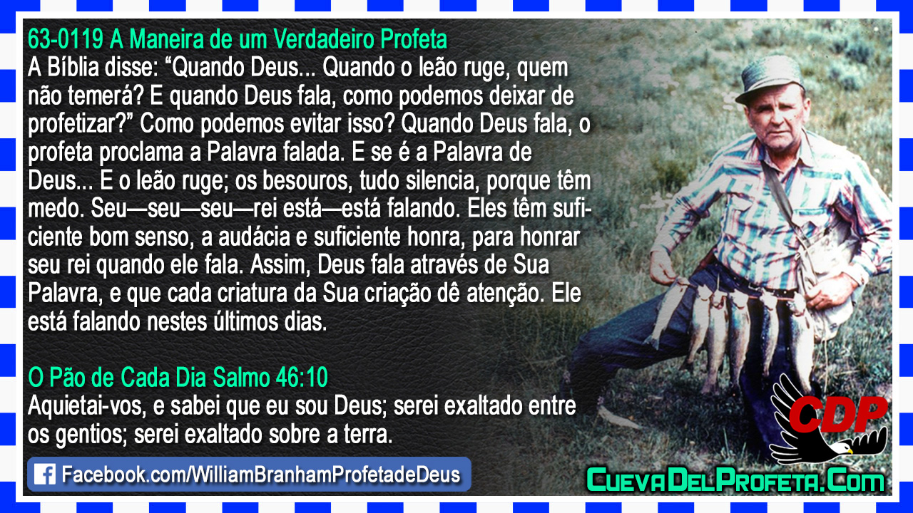 O profeta proclama a Palavra falada - William Marrion Branham