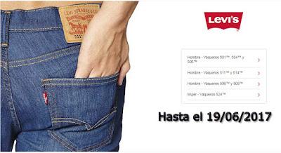 oferta de pantalones vaqueros levis