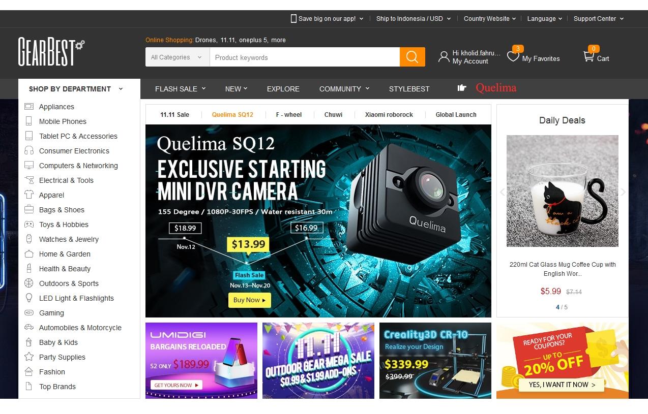 Pengalaman Belanja Online Dari Luar Negeri Melalui Gearbest Com